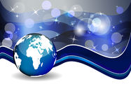 Background with globe, internet concept of global business Royalty Free Stock Photography