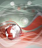 Background with globe, internet concept of global business Stock Photography
