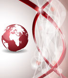 Background with globe, internet concept of global business Royalty Free Stock Photos