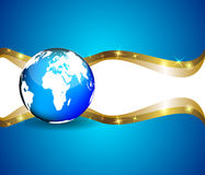 Background with globe, internet concept of global business Royalty Free Stock Photo