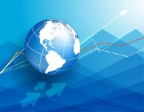 Background with globe Stock Photo