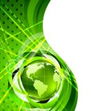 Background with globes. Green bright background with globe Royalty Free Stock Images