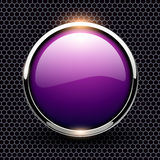 Background with glossy button Royalty Free Stock Images