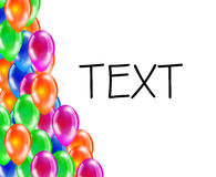 Background of glossy colored balloons with space for text. Royalty Free Stock Photography