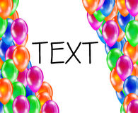 Background of glossy colored balloons with space for text. Royalty Free Stock Image