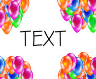 Background of glossy colored balloons with space for text. Royalty Free Stock Images