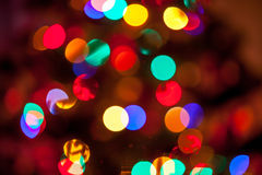 Background of glowing christmas lights Royalty Free Stock Photos