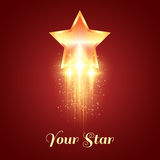 Background with glowing golden star Royalty Free Stock Image