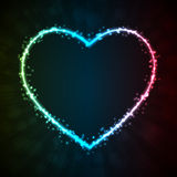 Background with glowing heart-shape Royalty Free Stock Images