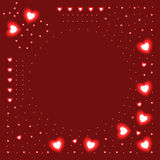 Background of glowing hearts Royalty Free Stock Image