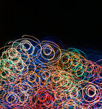 Background of glowing lines Stock Photo