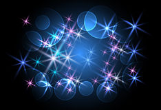 Background with  glowing rays Royalty Free Stock Photo