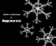 Background with glowing snowflake Royalty Free Stock Photo