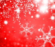 Background with glowing snowflake Stock Photo