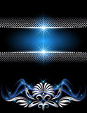 Background with glowing stars Royalty Free Stock Images