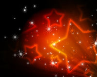Background with glowing stars Stock Photos