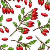 Background with goji berries Royalty Free Stock Images