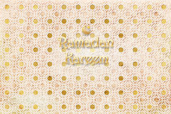 Background gold Arabian pattern on ancient wall. Ramadan Kareem royalty free illustration