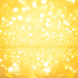Background gold bokeh out of focus Stock Image