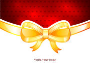 Background with gold bow Stock Photo