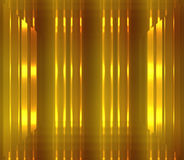 Background of gold and brown with glowing light and 3d effect. Royalty Free Stock Image