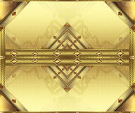 Background gold cards. Background for horizontal gold cards with precious stones and decorated elements Royalty Free Stock Photos