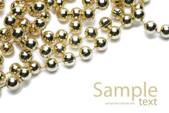 Background with gold chaplet Stock Image