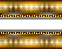 Background with gold circles and stars Royalty Free Stock Photos