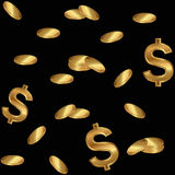 Background of gold coins Royalty Free Stock Photos