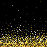 Background with with gold confetti Royalty Free Stock Image