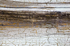 Background with gold, cracks and streaks of paint in retro style Stock Photo
