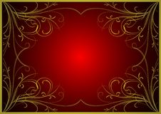 Background with gold(en) pattern Royalty Free Stock Photo