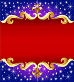 Background with gold(en) pattern Royalty Free Stock Images