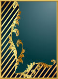 Background with gold(en) pattern and band Royalty Free Stock Photos