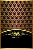 Background with gold(en) pattern for invitation Stock Photo