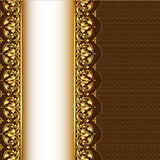 Background with gold(en) pattern and net Royalty Free Stock Image