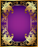Background with gold(en) pattern from sheet Stock Photography