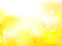 Background gold fern plant. Background illustration of beautiful landscape Royalty Free Stock Photos