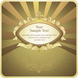 Background with gold frame Royalty Free Stock Photo