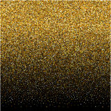 Background with gold gradient texture on black backdrop. Vector background with gold gradient texture on black backdrop Royalty Free Stock Photography