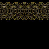 Background with gold lace ornament Royalty Free Stock Photos