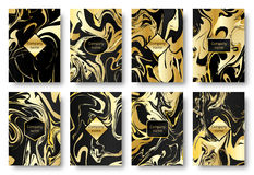Background gold marble Royalty Free Stock Images
