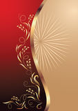 Background with gold ornament Stock Image