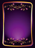 Background with gold ornament Royalty Free Stock Image