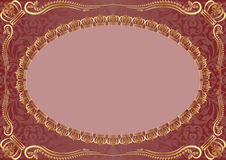 Background with gold ornaments. Red background with gold ornaments Stock Image