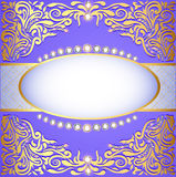 Background with gold ornaments and glittering jewels Stock Photo