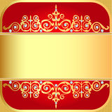 Background with gold ornaments and precious stones Royalty Free Stock Photos