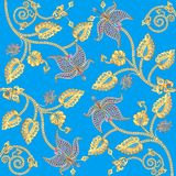 Background with gold ornaments and precious stones Stock Images