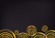 Gold circles on dark background vector Royalty Free Stock Images