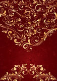 Background with gold pattern Stock Photography